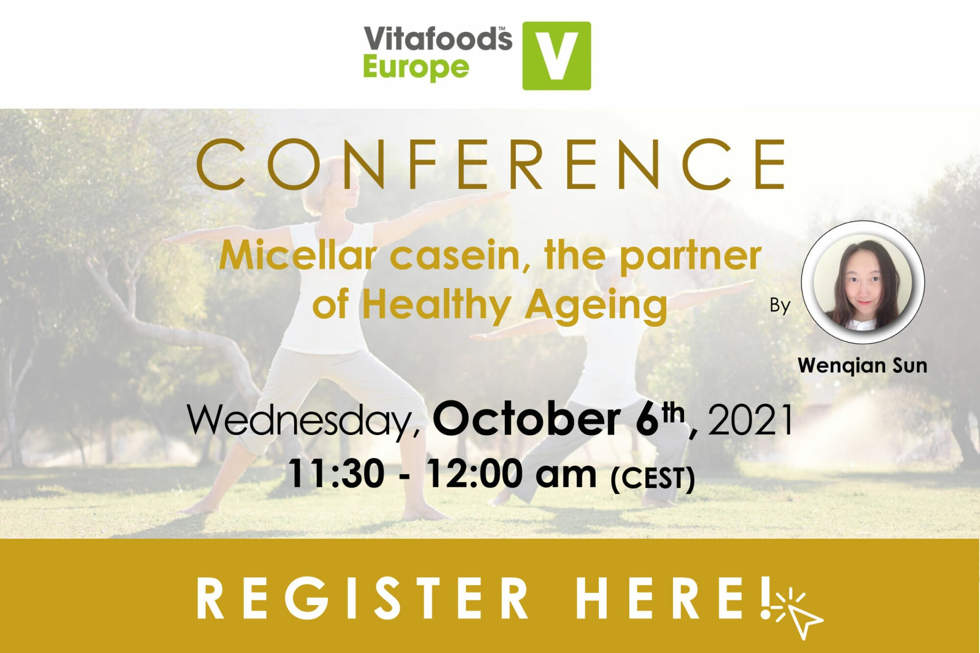 conférence senior healthy ageing santé protéine lait micellaire caséine